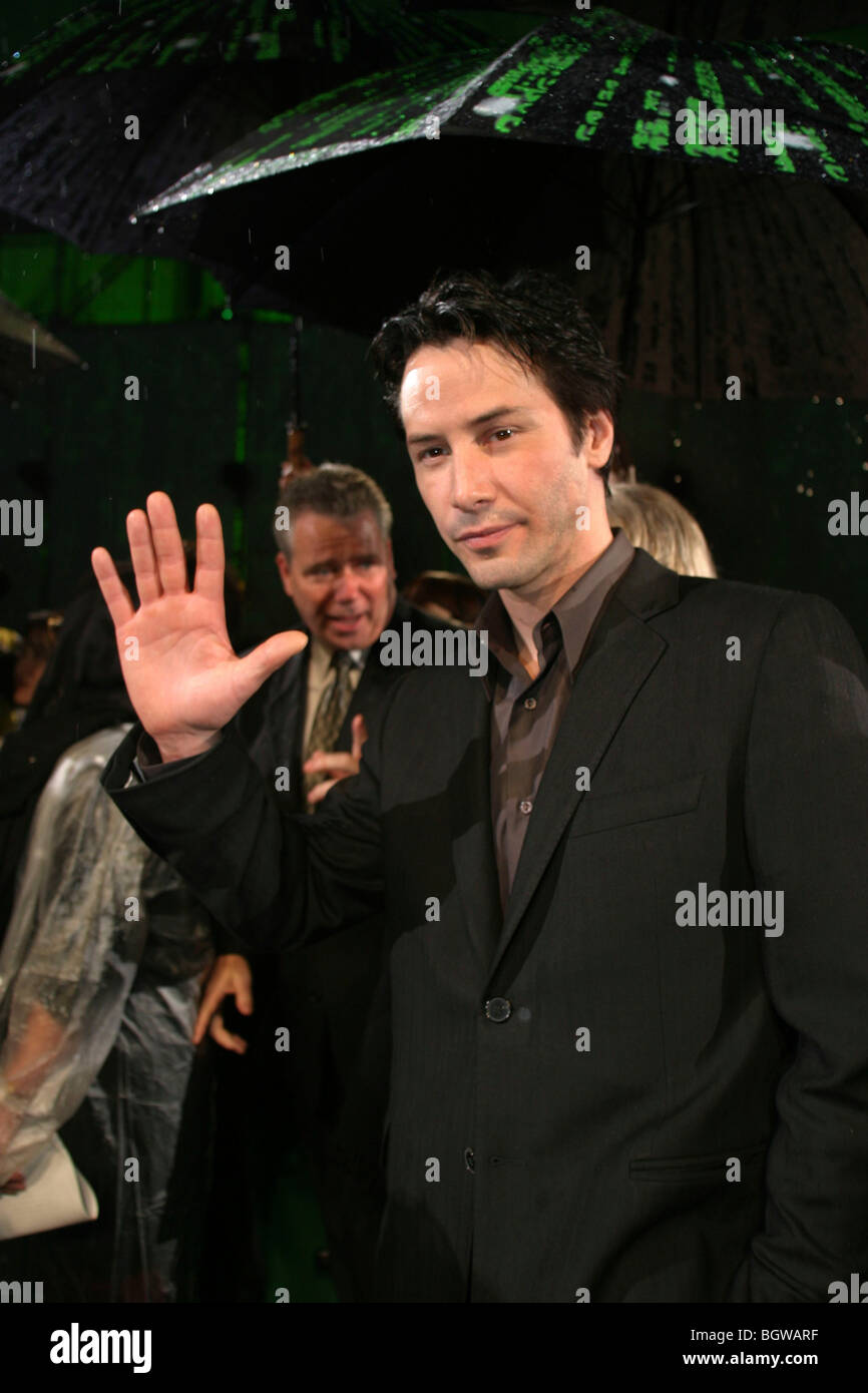 Canadian American actor Keanu Reeves at the world premier of Matrix Revolutions movie in Tokyo, Japan, 05.11. 2003. - Stock Image