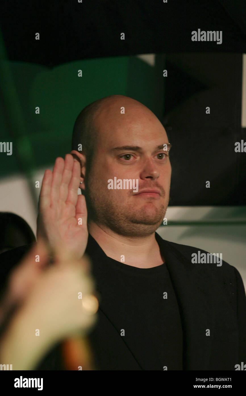 Andy Wachowski  at World Premiere of The Matrix Revolutions, in Tokyo, Japan, 2003. - Stock Image