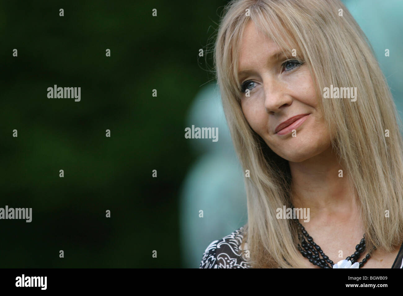 Joanne K. ( J.K.) Rowling, creator and author of Harry Potter series of children;s books, 2004 Edinburgh Book Festival, - Stock Image