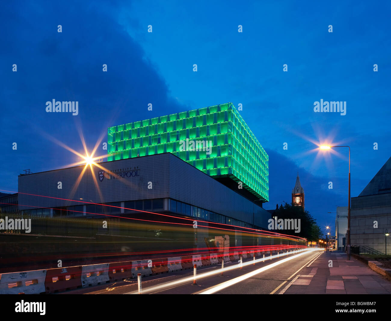 UNIVERSITY OF LIVERPOOL FACULTY OF ENGINEERING, LIVERPOOL, UNITED KINGDOM, SHEPPARD ROBSON - Stock Image