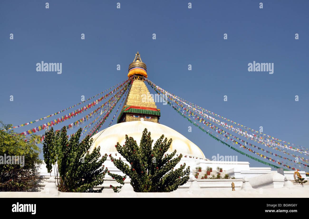 Bodnath Stupa, Kathmandu, Nepal, - Stock Image