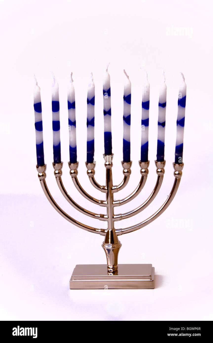 Hanukkah menorah - Stock Image