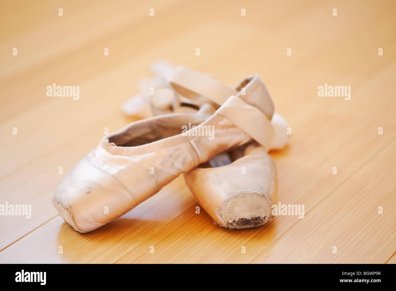 7a3b455d6 Worn Ballet Shoes Stock Photos   Worn Ballet Shoes Stock Images - Alamy