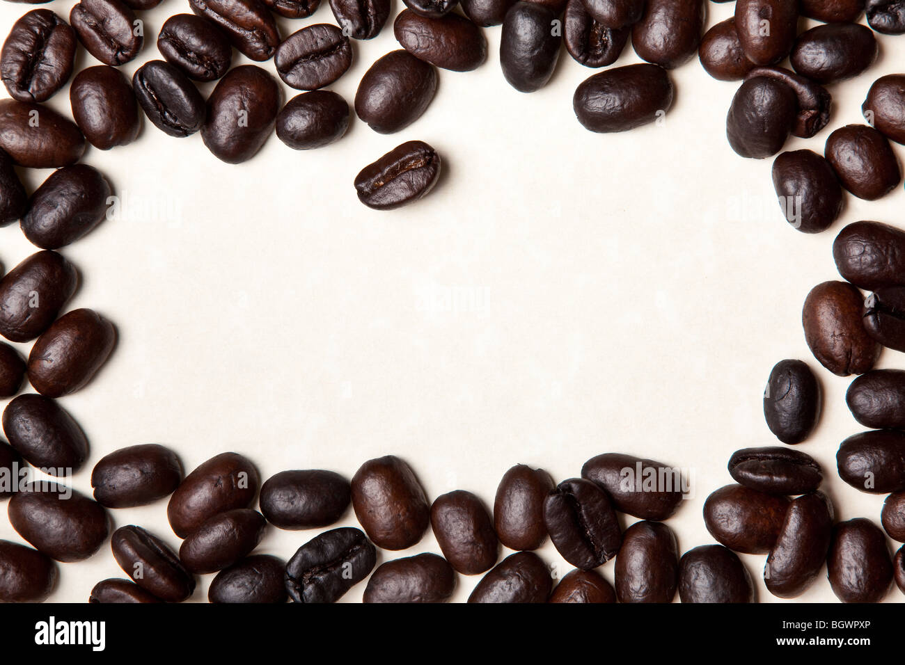 coffee beans isolated on a white background - Stock Image