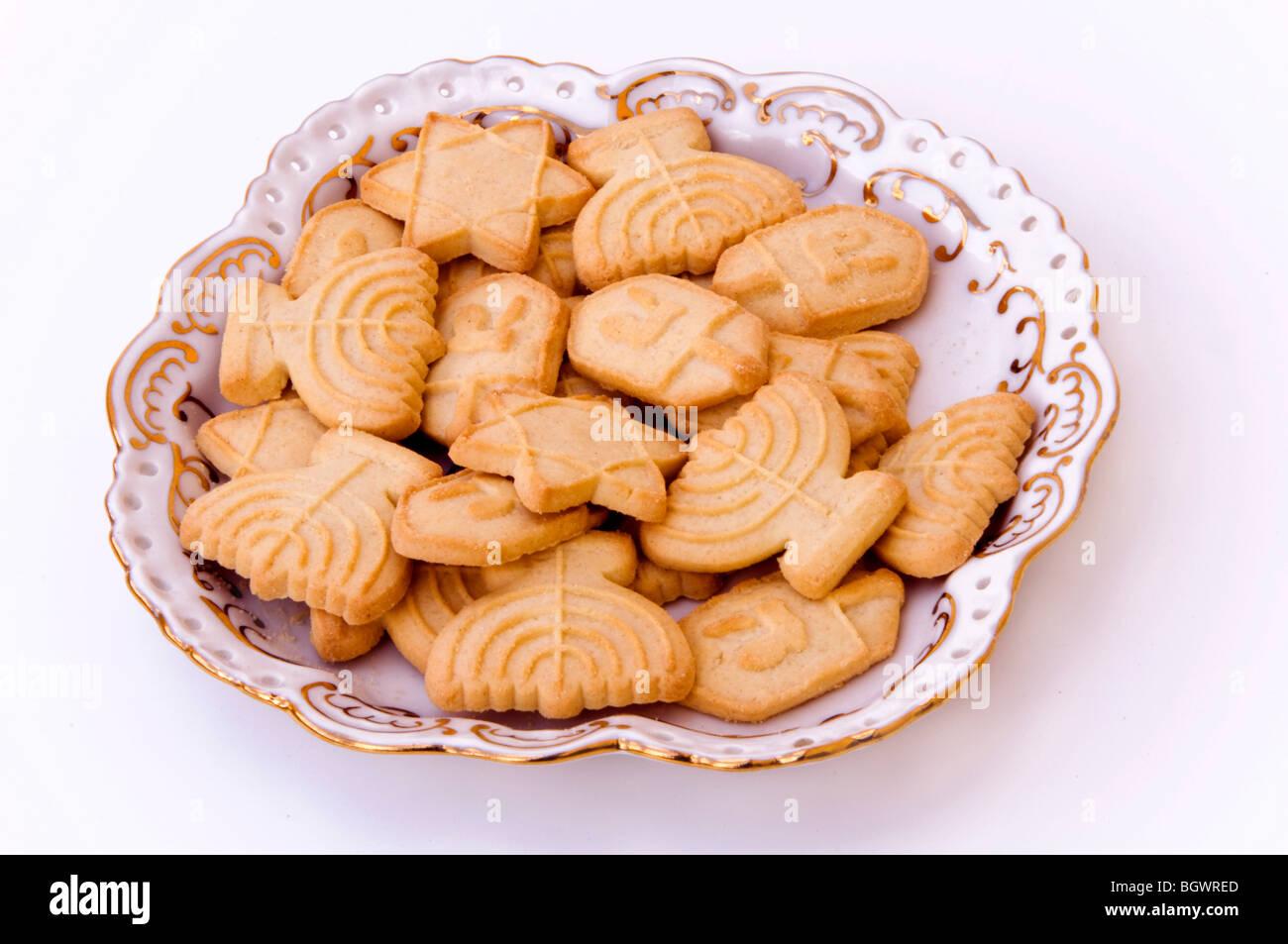 Hanukkah cookies - Stock Image
