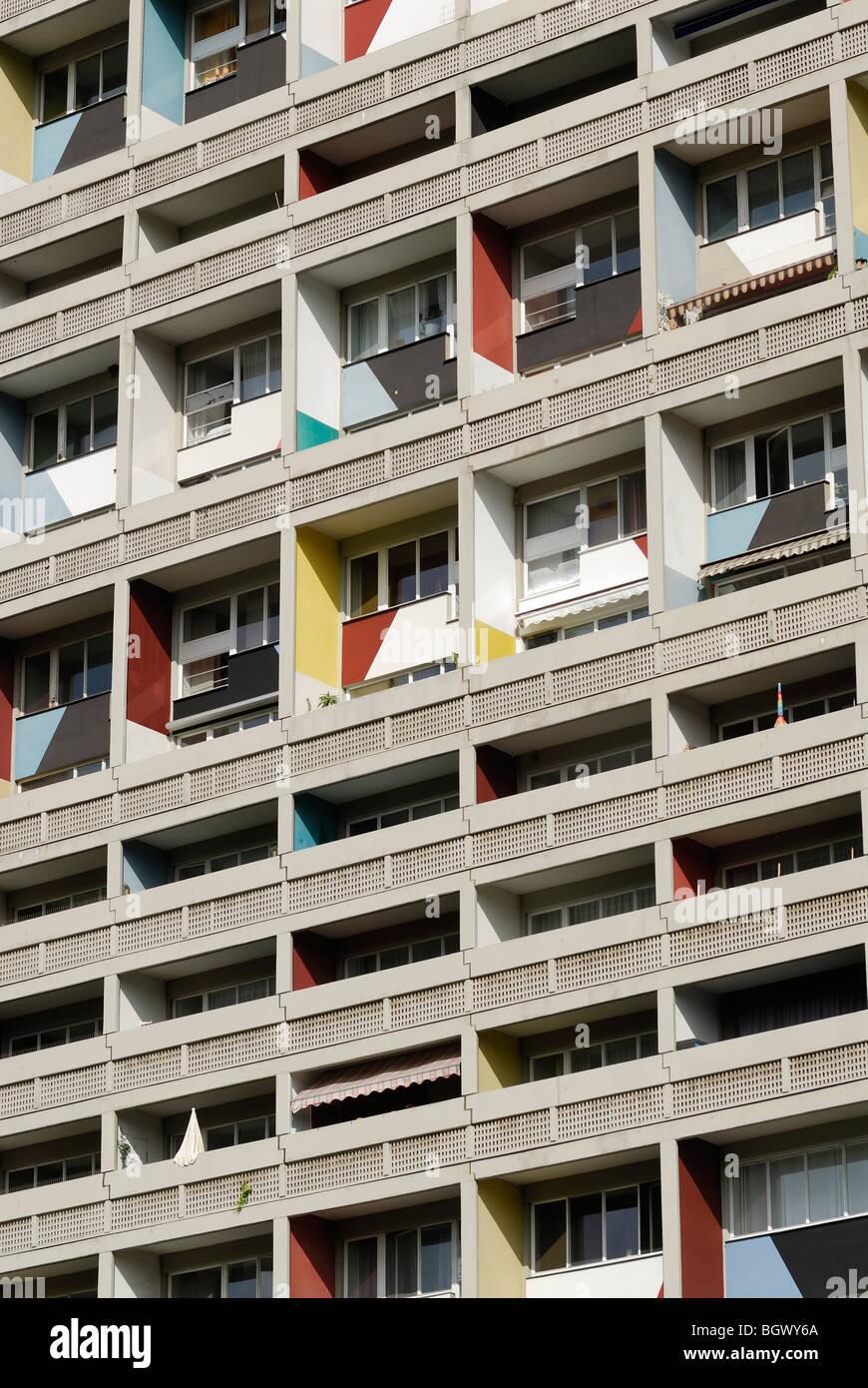 Berlin. Germany. Corbusier's Unite d'habitation. - Stock Image