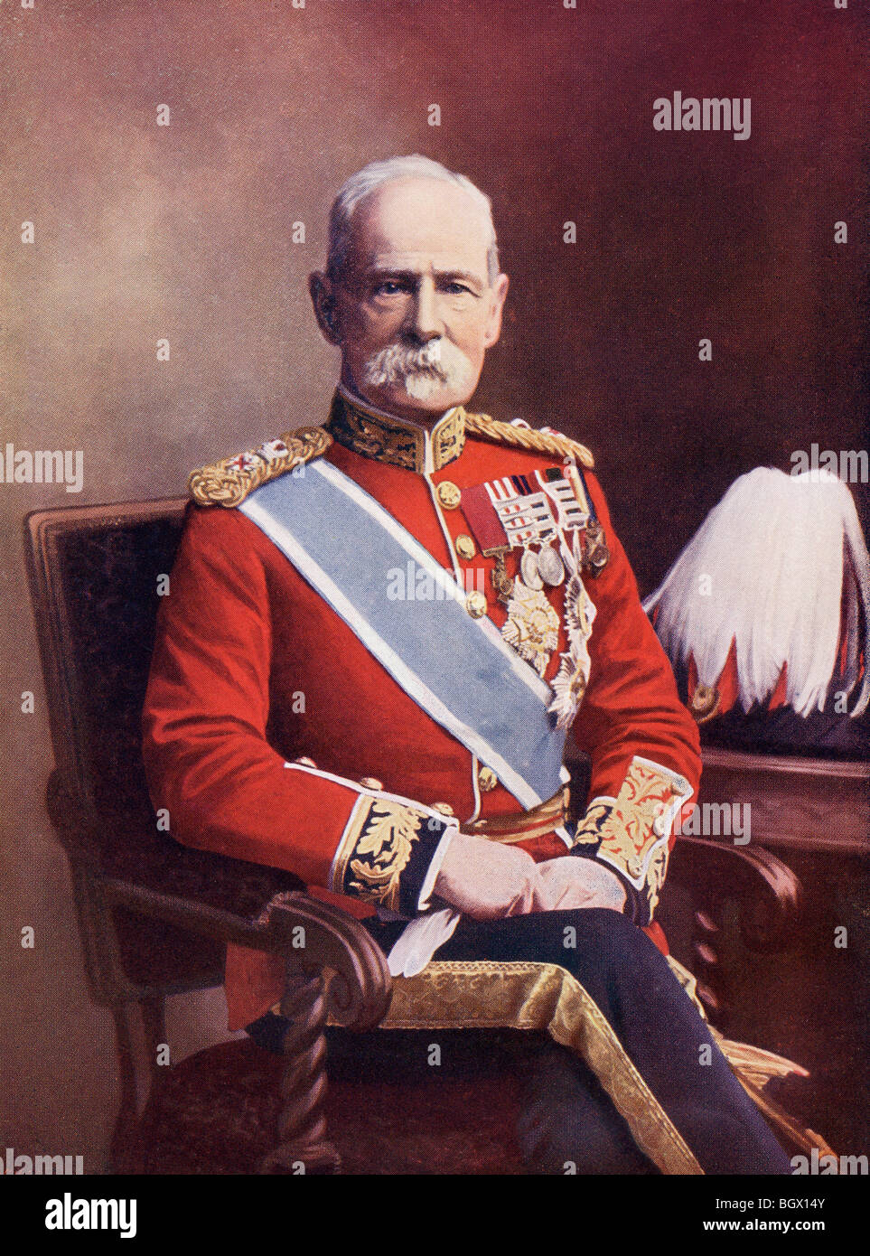 Field Marshal Frederick Sleigh Roberts, 1st Earl Roberts, 1832 to 1914. Anglo-Irish soldier. - Stock Image