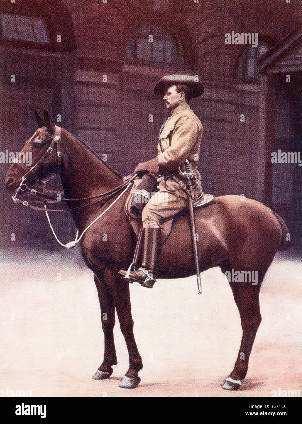 Sergeant major of the Imperial Light Horse regiment during the second Boer war. - Stock Image