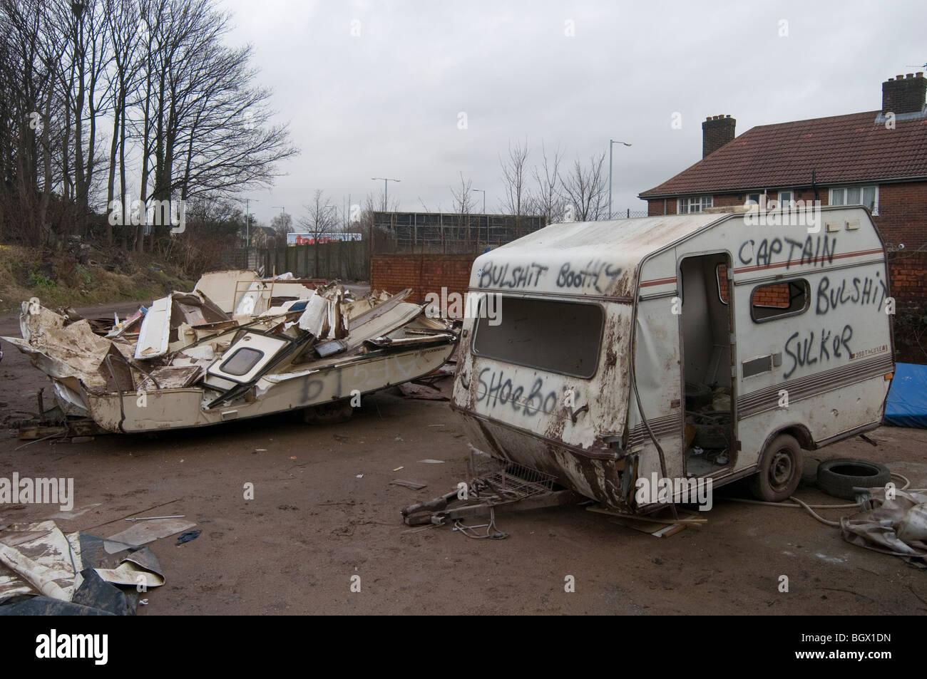 caravan caravans smashed up old vans camping camper