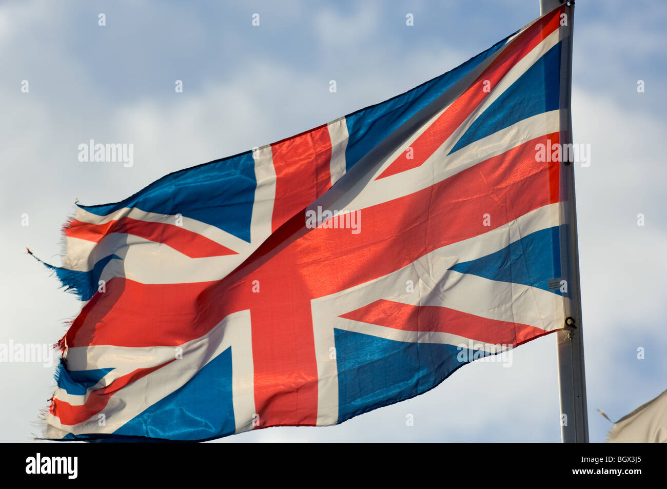 The national flag of the United Kingdom commonly knows as the Union Jack or Union Flag. - Stock Image