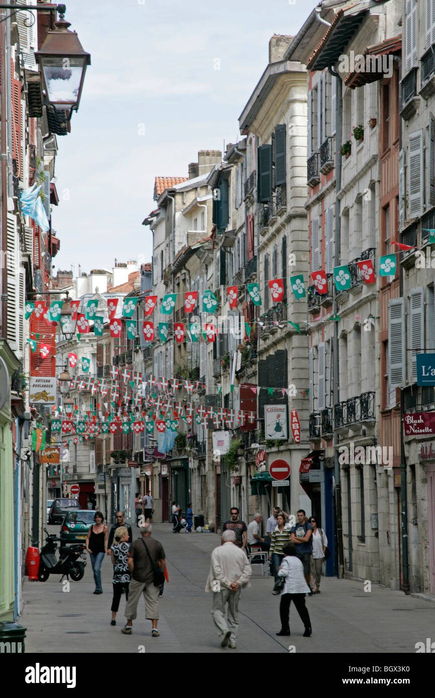 Commercial passage shops Bayonne Bordeaux Atlantic Coast Aquitaine France - Stock Image