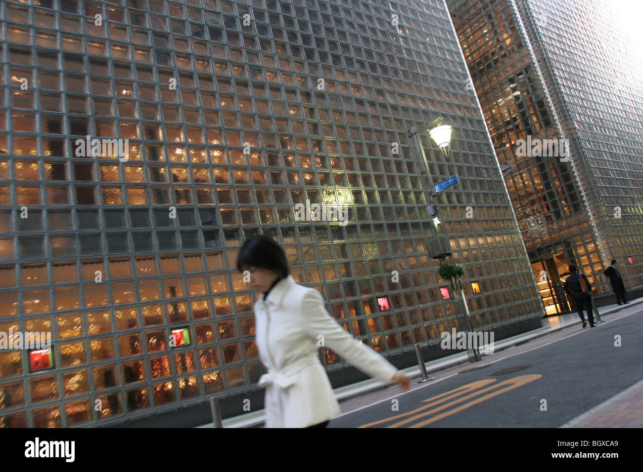 Hermes fashion boutique, designed by Renzo Piano, in the Ginza district, Tokyo, Japan, on Monday, Feb. 19, 2007. - Stock Image