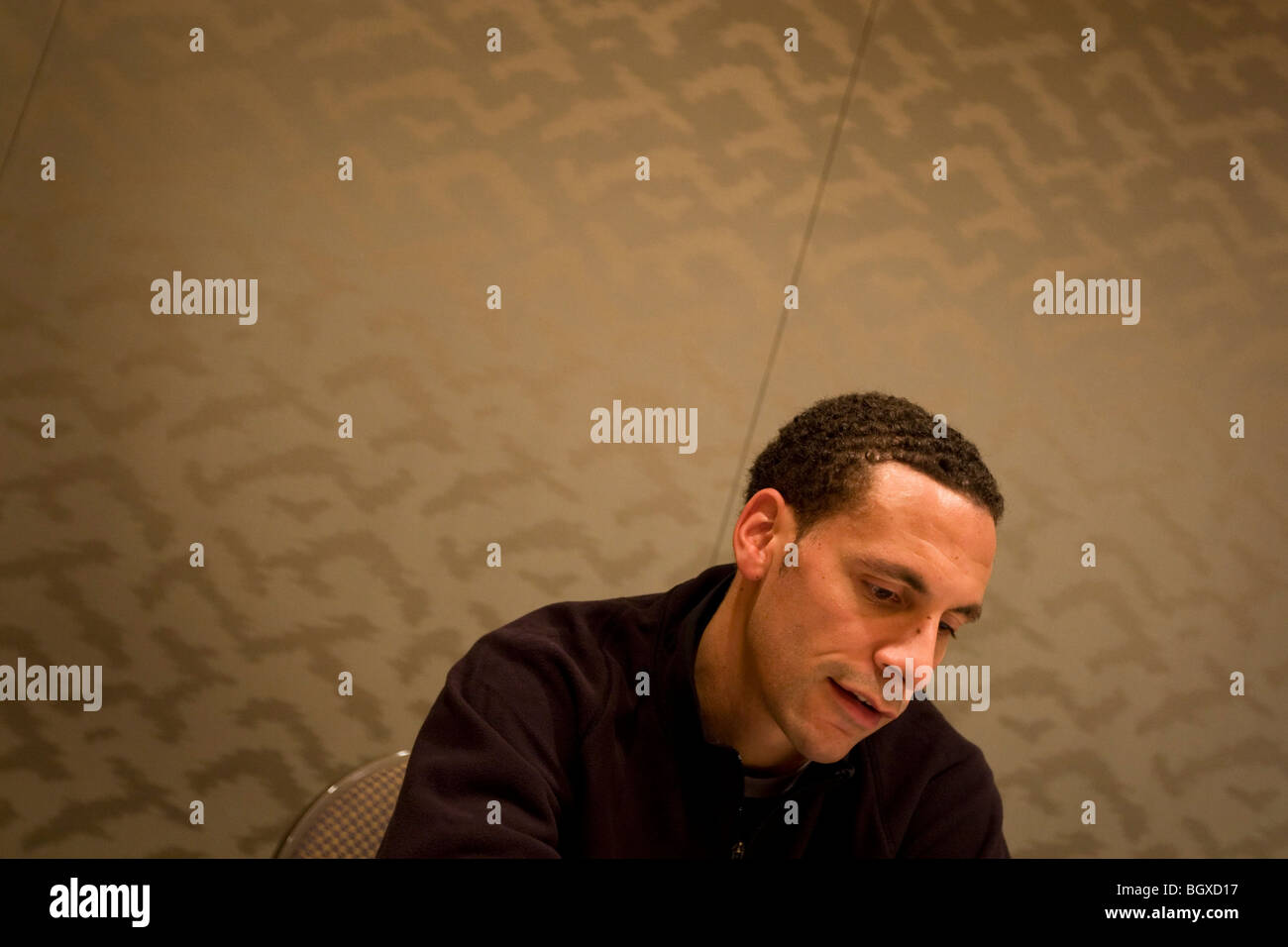 Rio Ferdinand of Manchester United, prior to the FIFA Club World Cup, in Yokohama, Japan, Tuesday 16th December - Stock Image