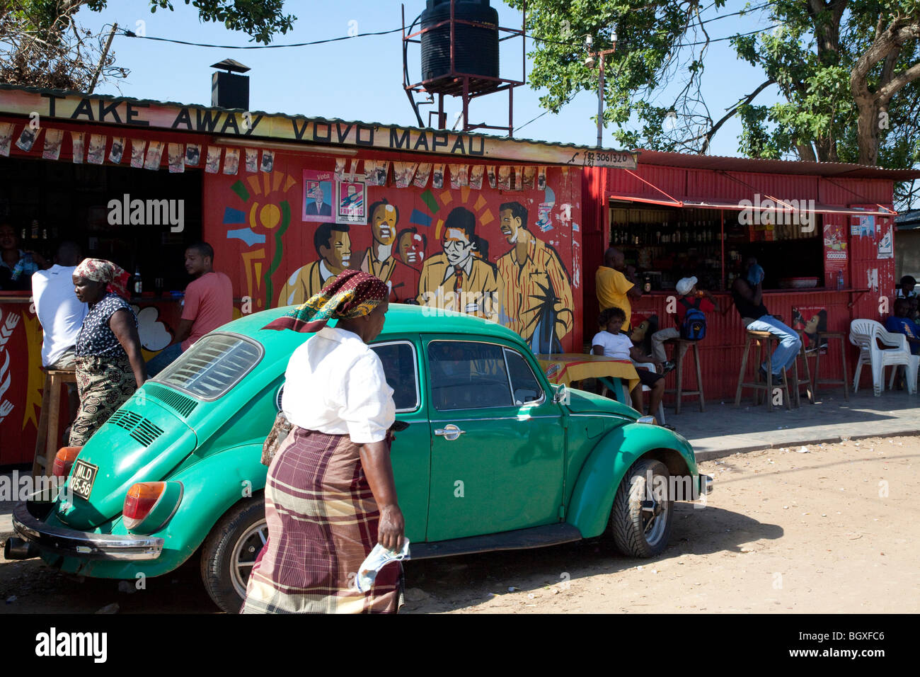 Street in Catembe, Maputo, Mozambique - Stock Image