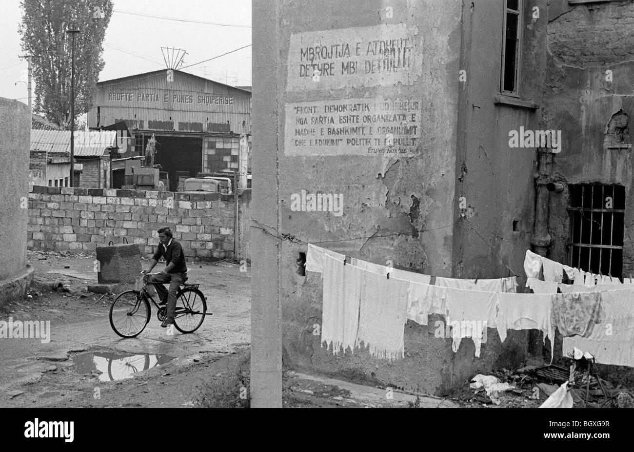 Tirana, Albania. 1991. - Stock Image