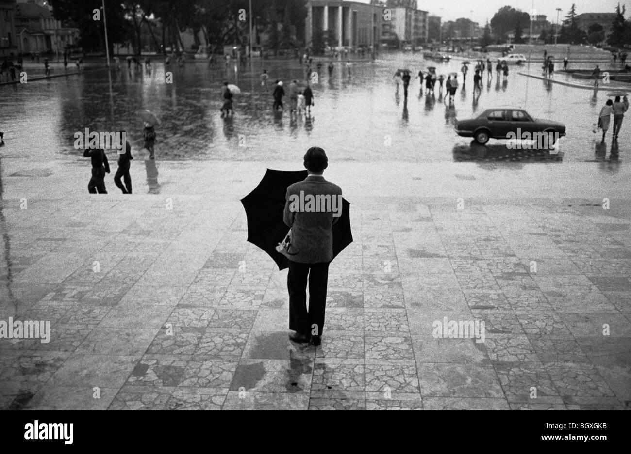 TIRANA, ALBANIA, 1992 - Stock Image
