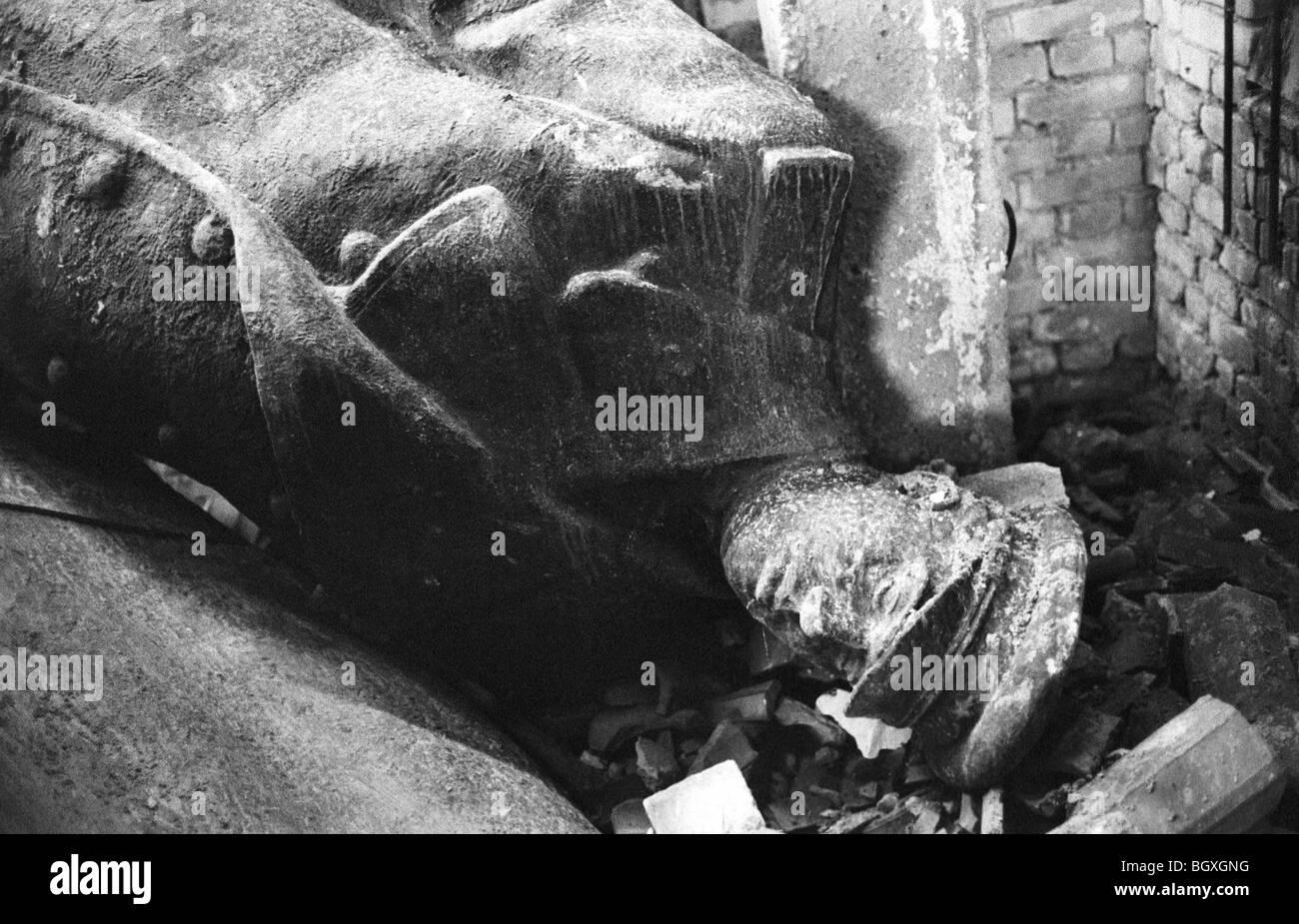 Statue of ENVER HOXHA, TIRANA, ALBANIA, 1992 - Stock Image