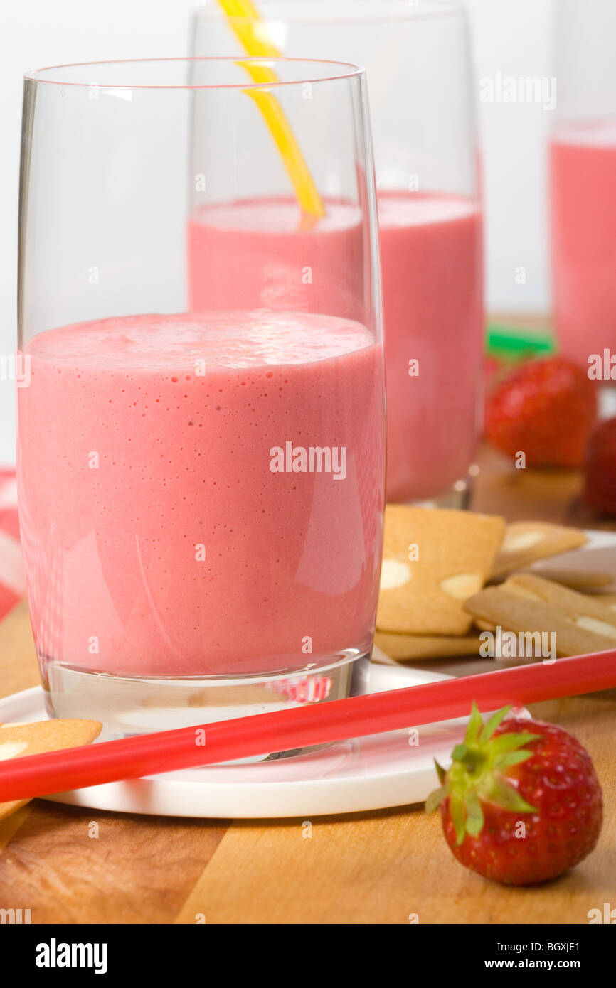 strawberry shake - Stock Image