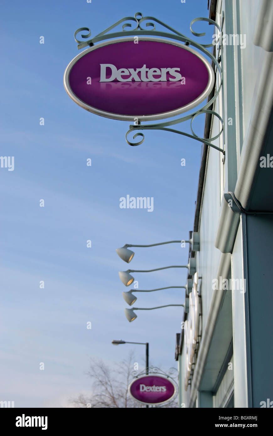 sign for dexters estate agents, teddington,  middlesex, england - Stock Image