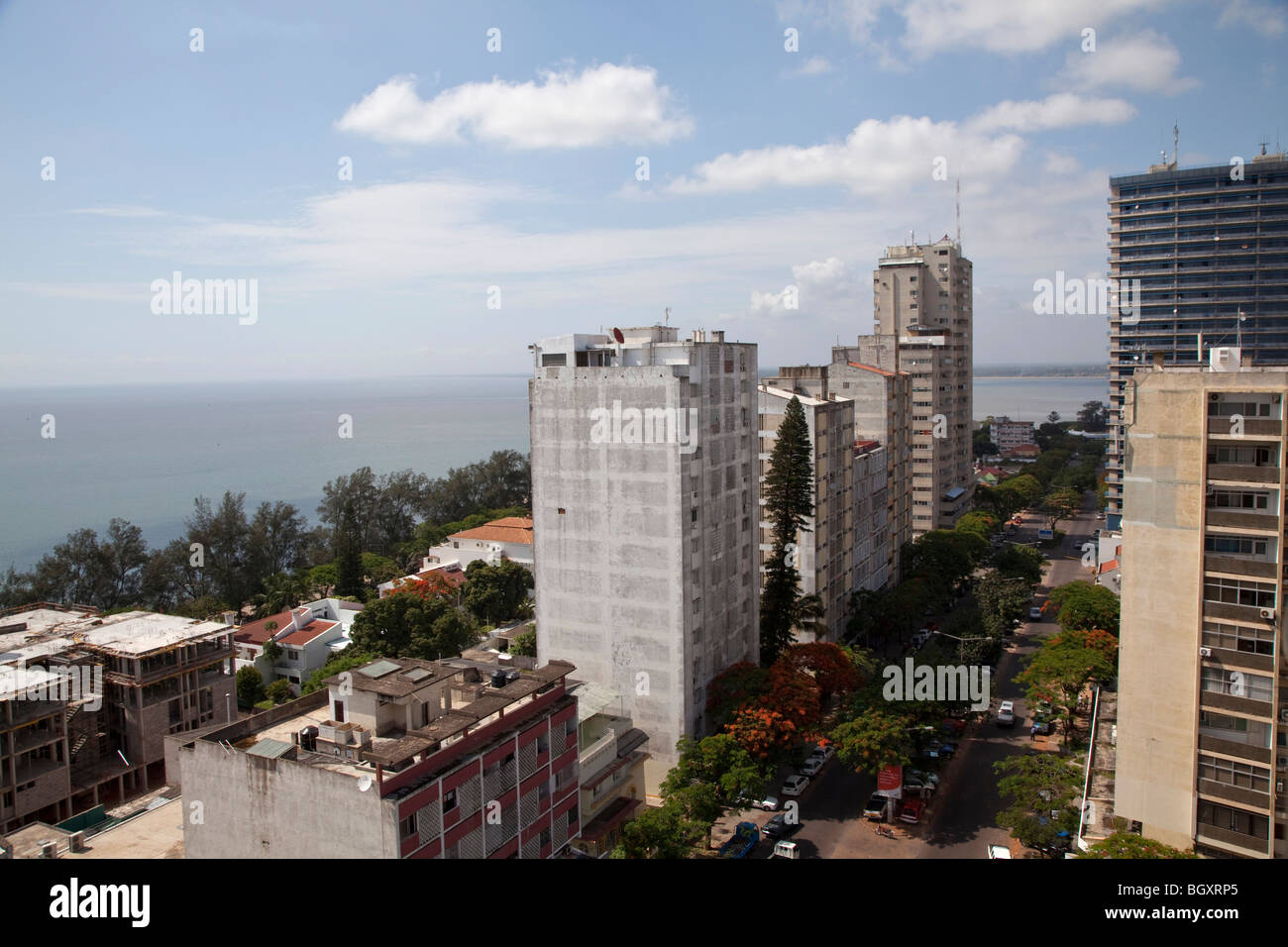 View of the center of Maputo, Mozambique, East Africa Stock Photo