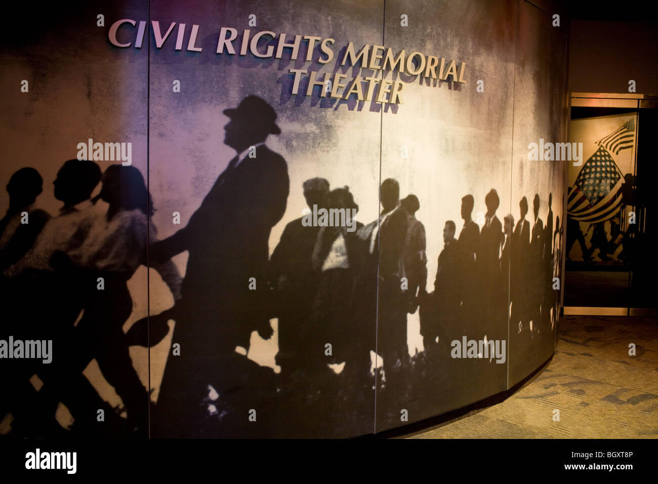 Inside Civil Rights Memorial Center, Montgomery, Alabama - Stock Image
