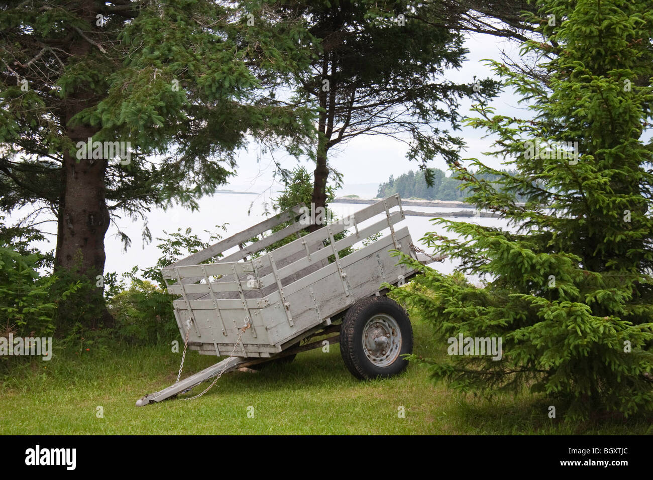 A handy utility trailer - Stock Image
