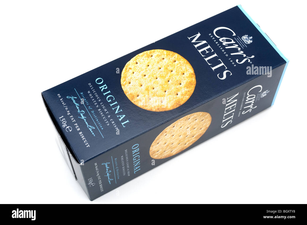 Box of Carr's original melts wheaten biscuits - Stock Image