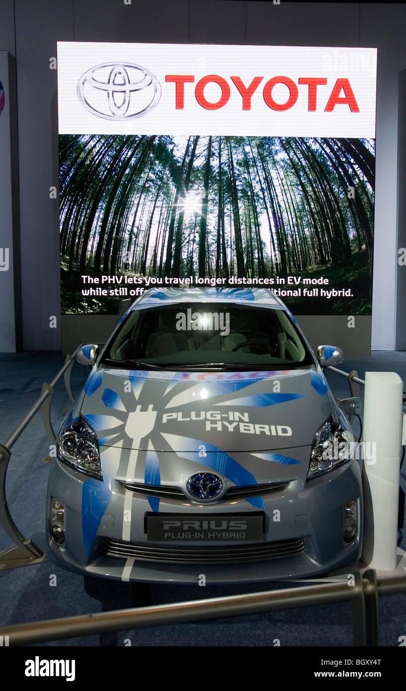 Toyota Prius, hybrid car, The Los Angeles Auto Show 2009 - Stock Image