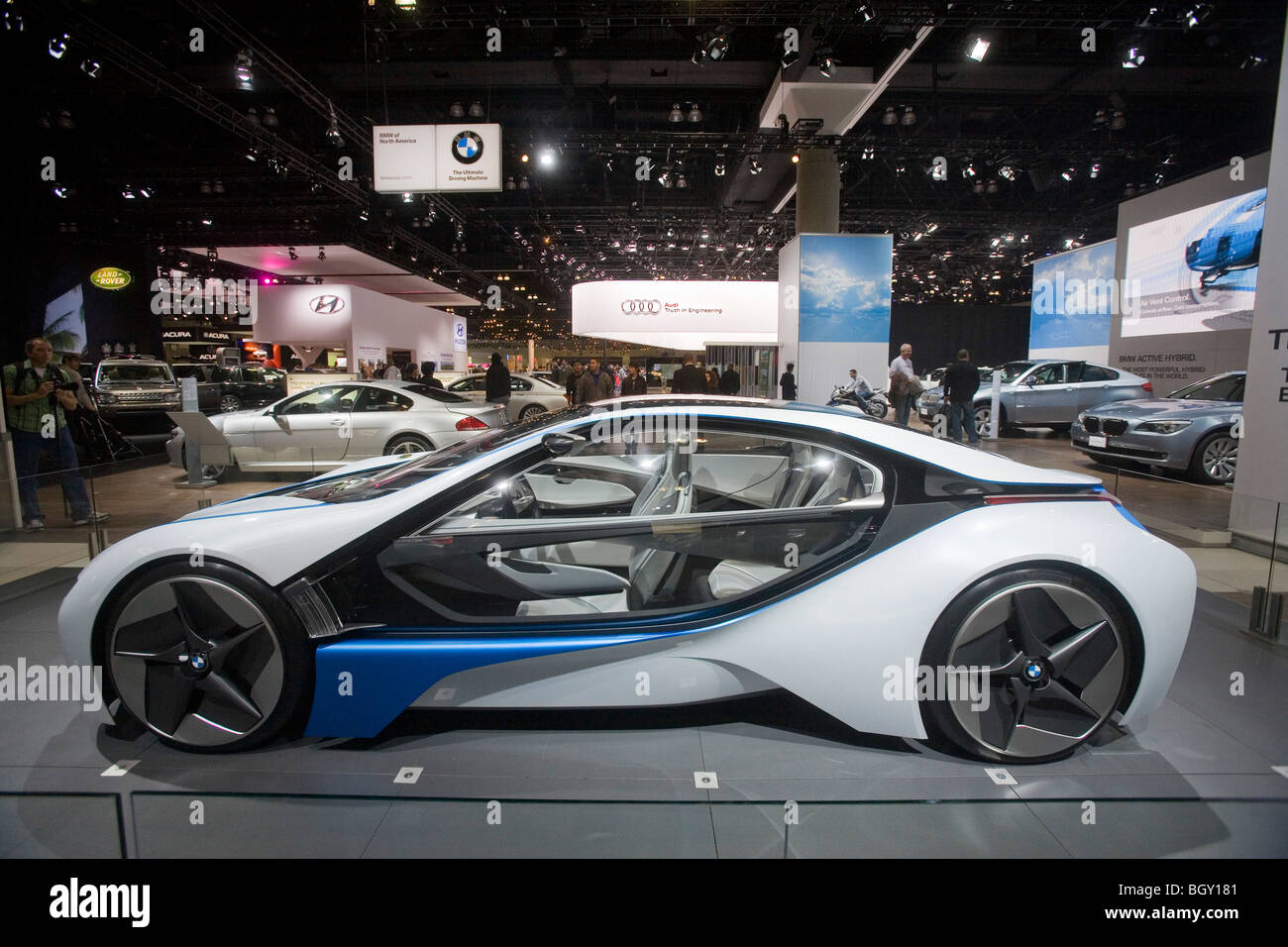 A BMW concept car, The Los Angeles Auto Show 2009 at the Los Angeles Convention Center, California, United States - Stock Image