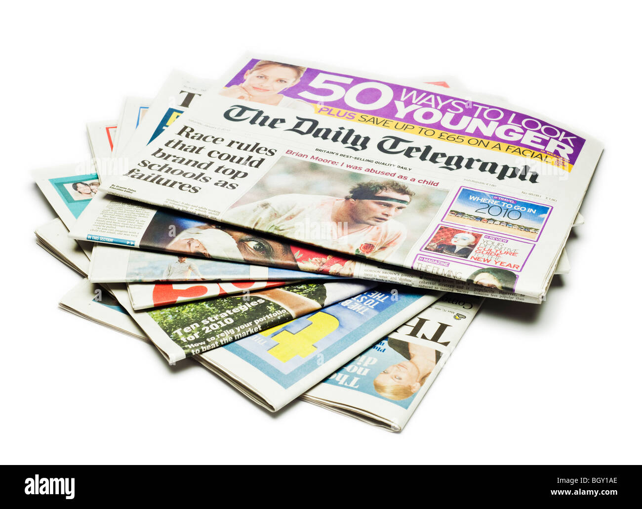 British Newspapers - Stock Image