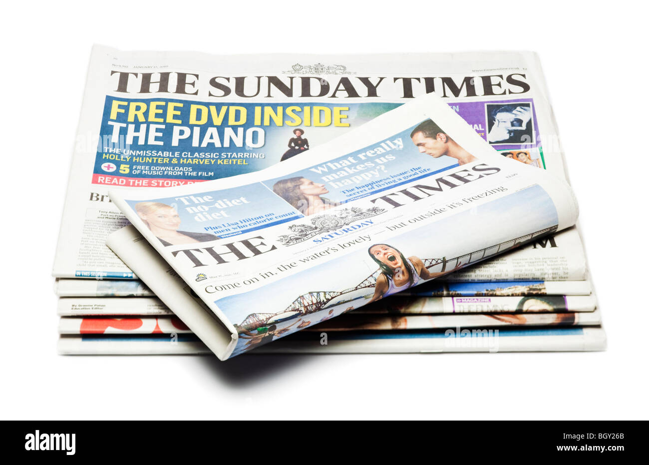 UK Newspapers including The Times and The Sunday Times - Stock Image
