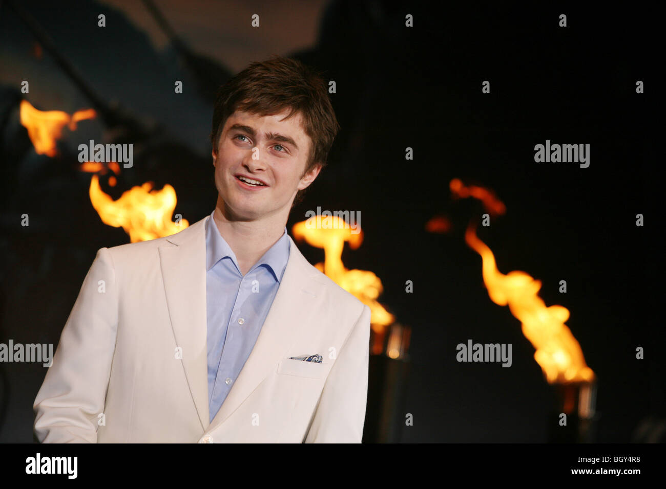 actor Daniel Radcliffe at red carpet premiere of 5th Harry Potter movie 'Harry Potter and the Order of the Phoenix', - Stock Image