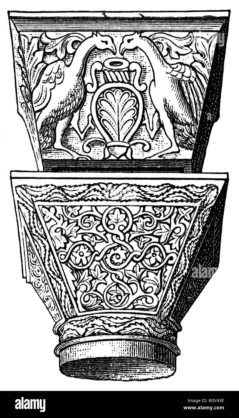 San Vitale in Ravenna, capital, Byzantine art - Stock Image