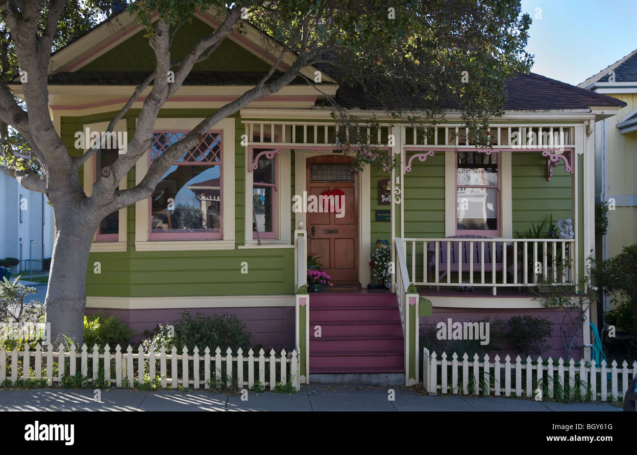 Ms Cornelia Pierce built TOAD HALL in 1904 - PACIFIC GROVE, CALIFORNIA - Stock Image
