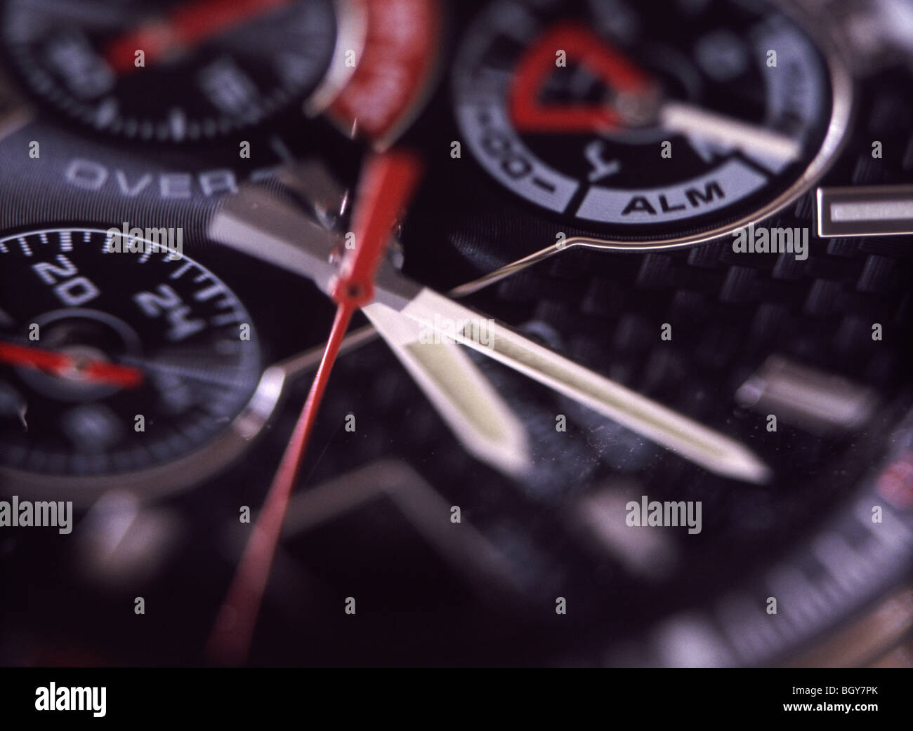 Watch Face, Chronograph - Stock Image