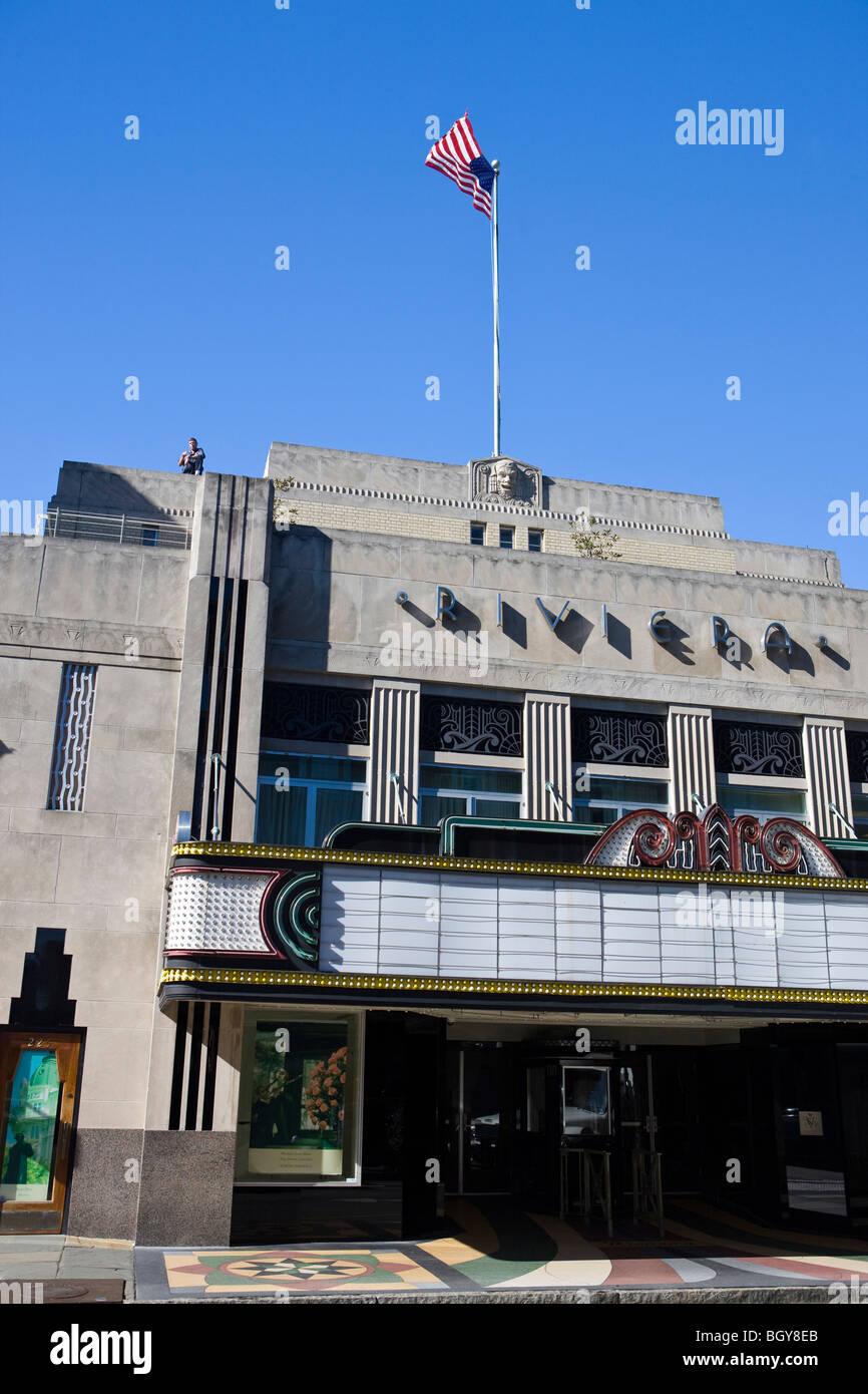 Riviera Theatre, King Street, Charleston, South Carolina, United States of America. - Stock Image