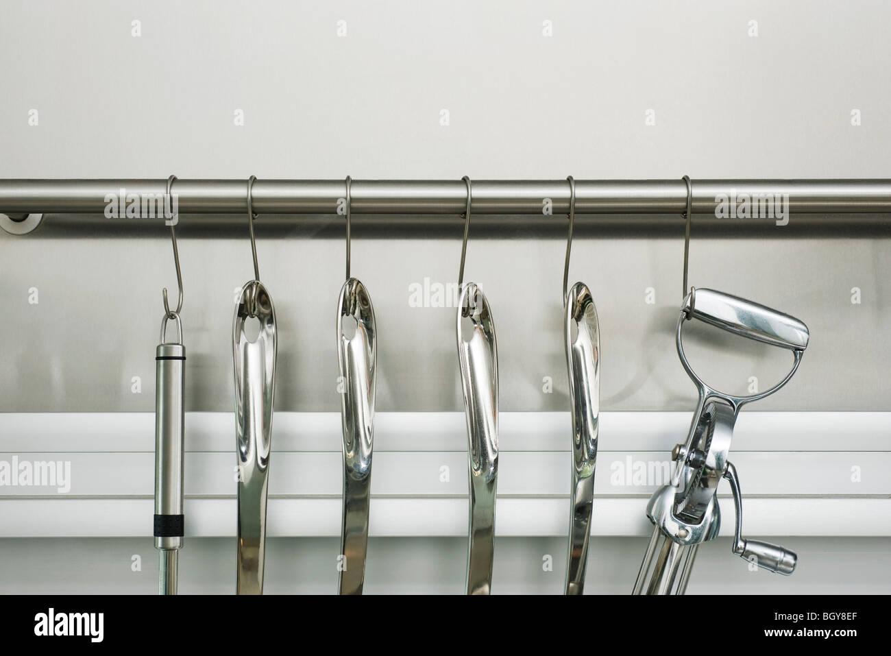Utensil rack - Stock Image