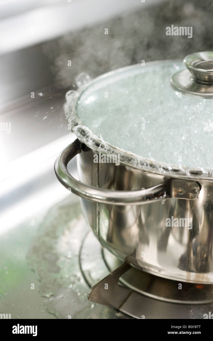 Pot boiling over - Stock Image
