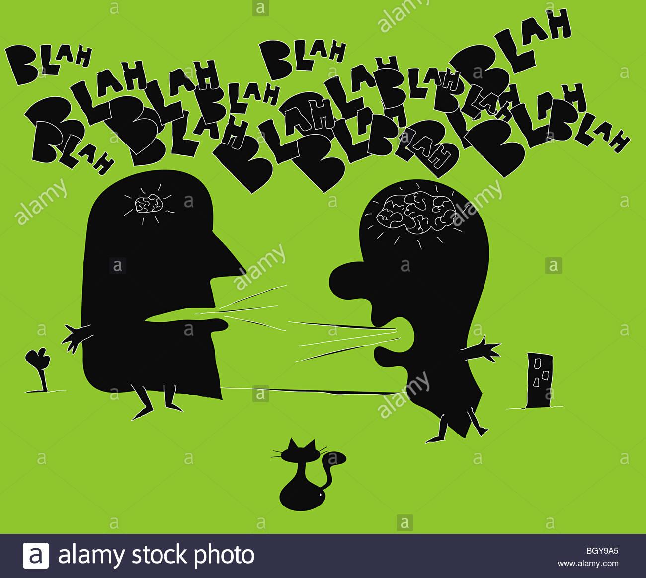 People having argument - Stock Image