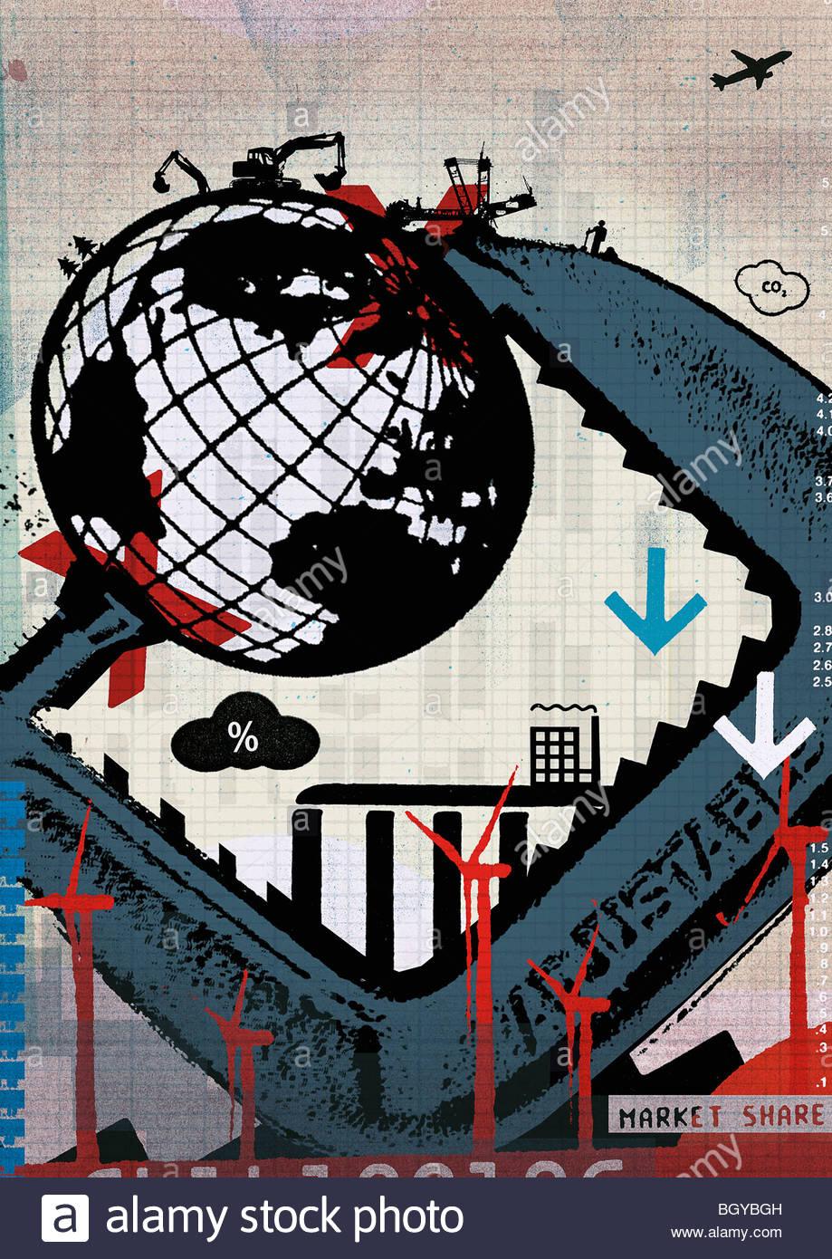 Vice holding globe - Stock Image