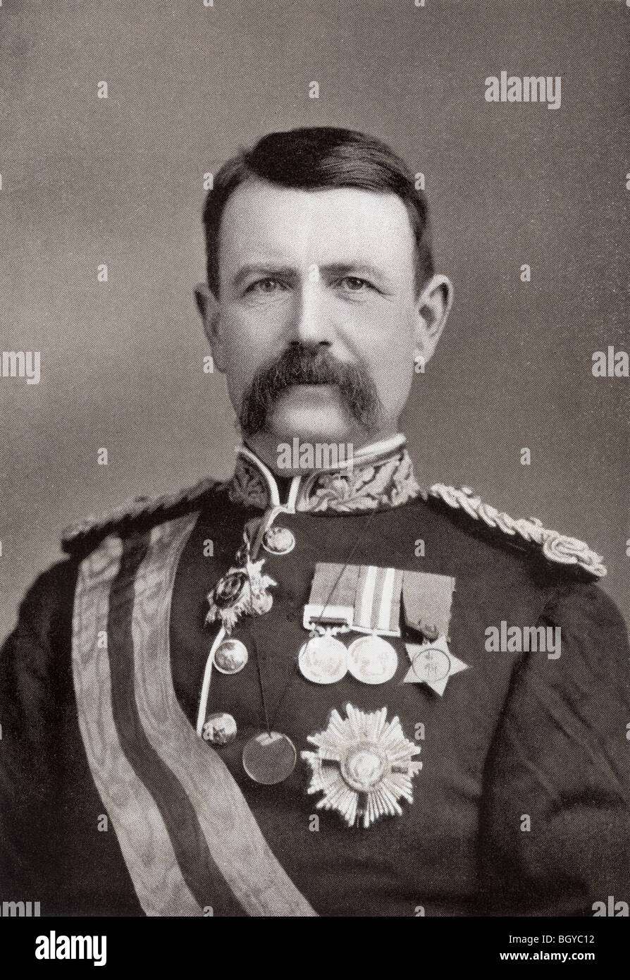 General Sir Charles Warren, 1840 to 1927.Officer in British Royal Engineers and later Commissioner of London Metropolitan - Stock Image