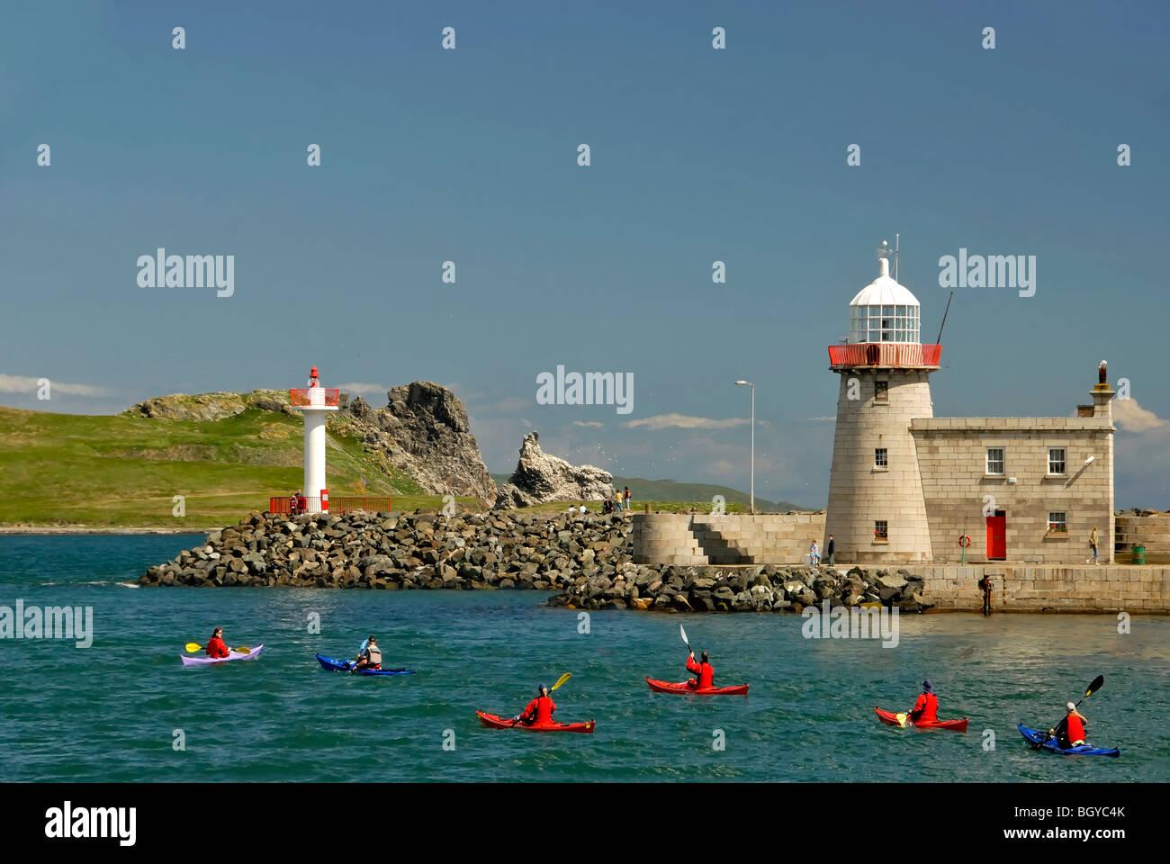 Seakayaking in Howth, Dublin Bay Ireland - Stock Image