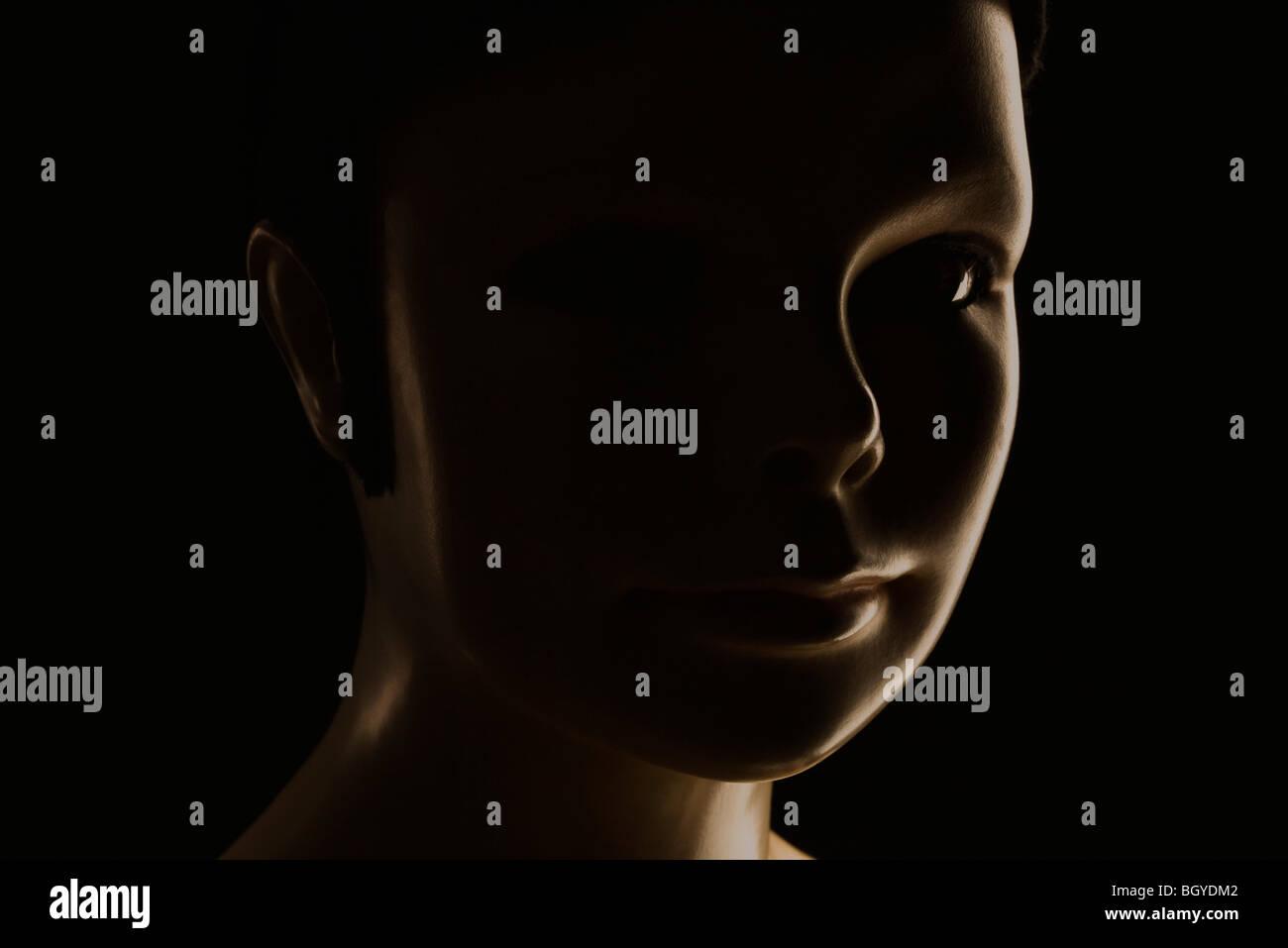 Female mannequin, portrait - Stock Image