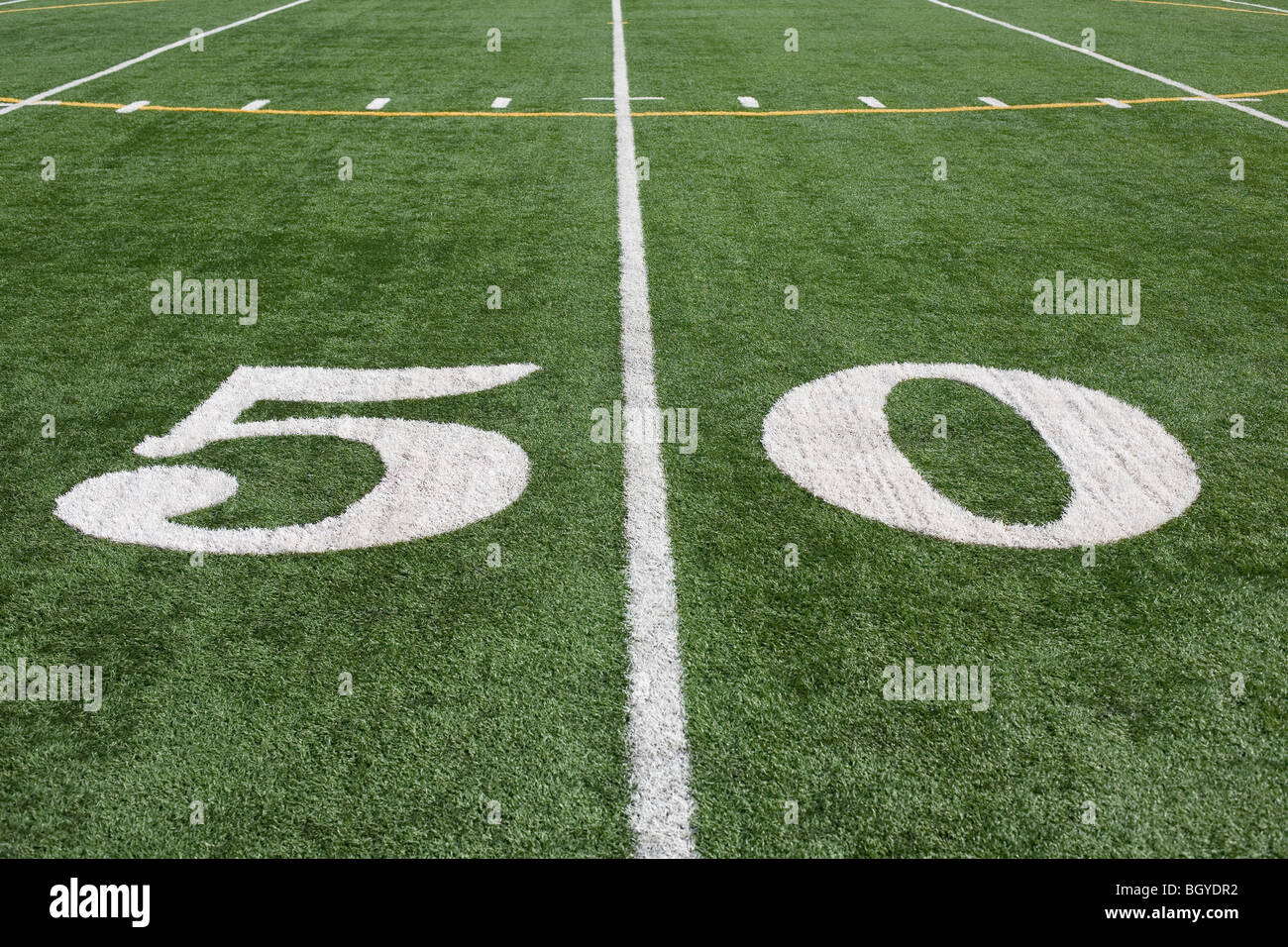 Fifty yard line - Stock Image