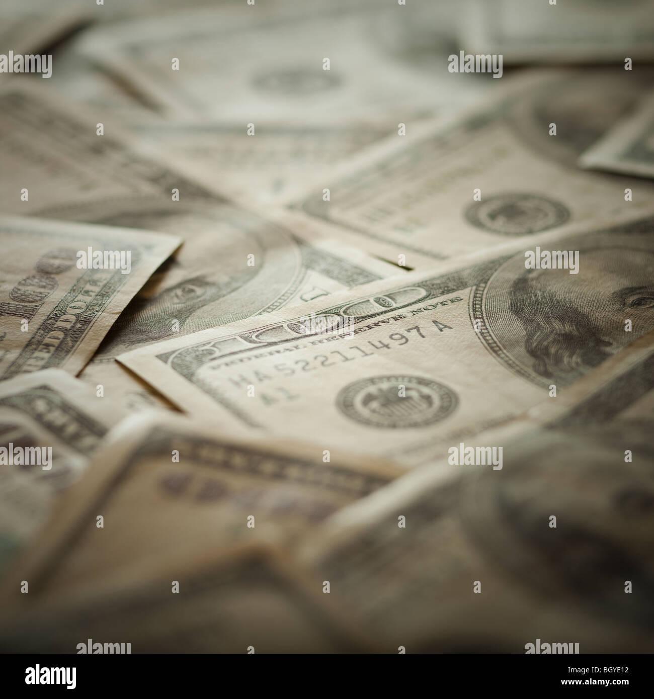 100 dollar bills - Stock Image