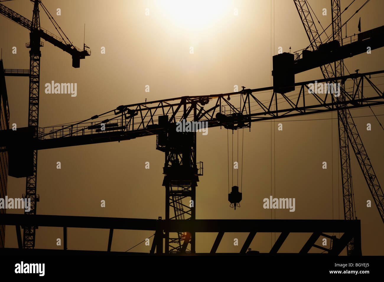 Construction of high-rise building - Stock Image