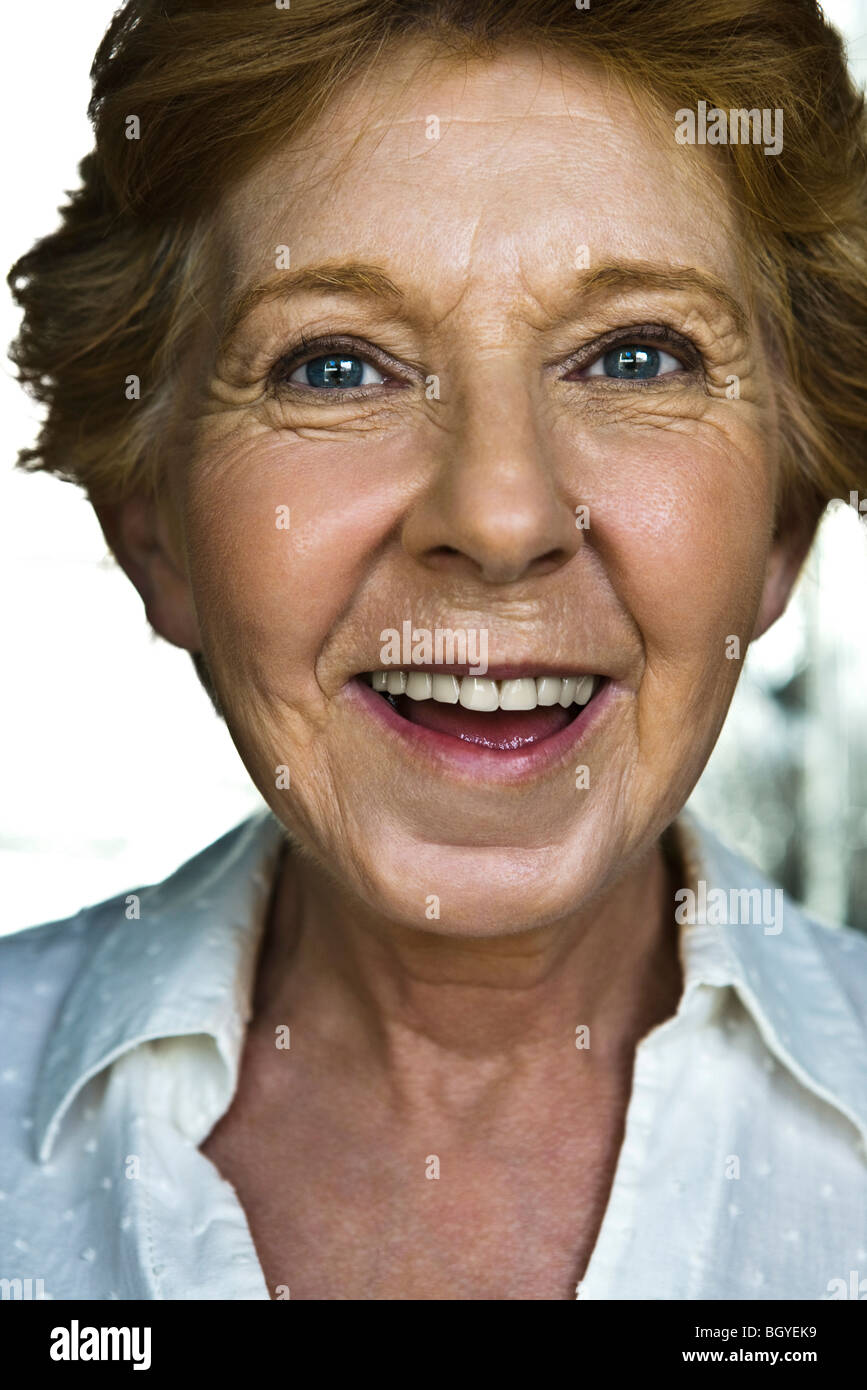 Senior woman, portrait - Stock Image