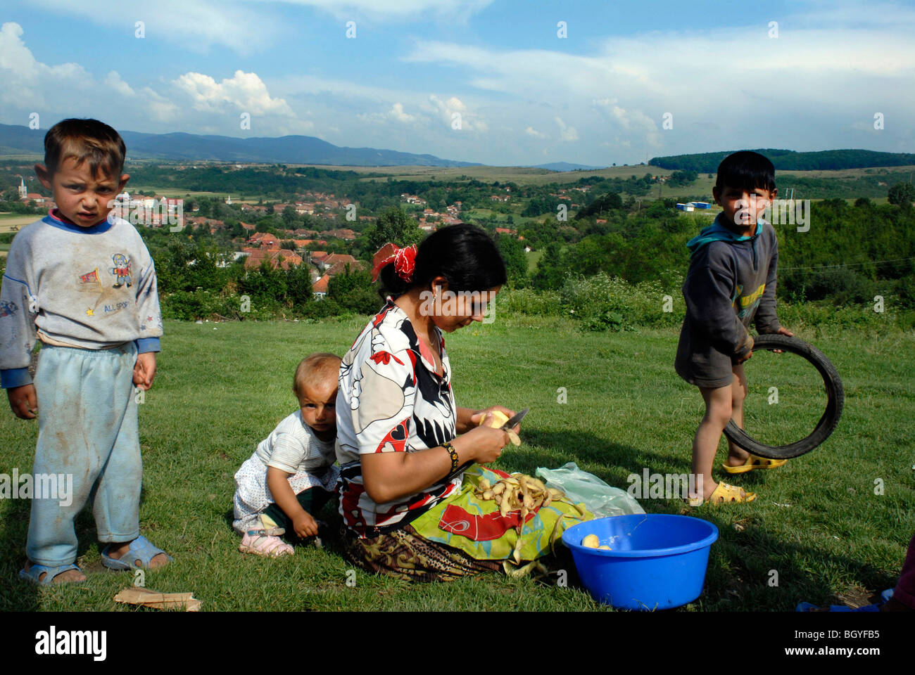 Roma Children Romania Stock Photos & Roma Children Romania