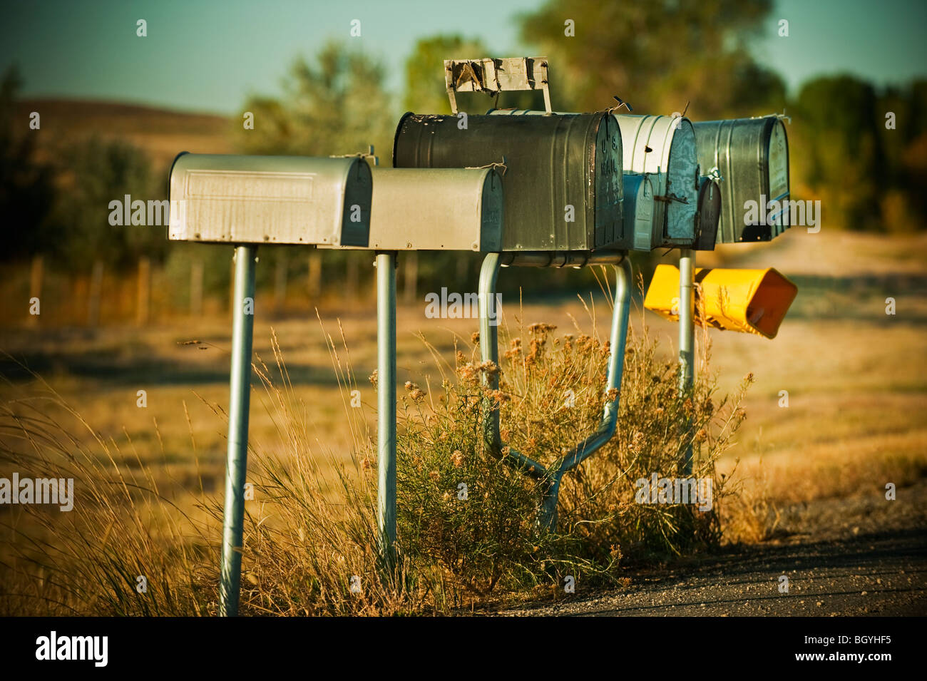 Mailboxes - Stock Image
