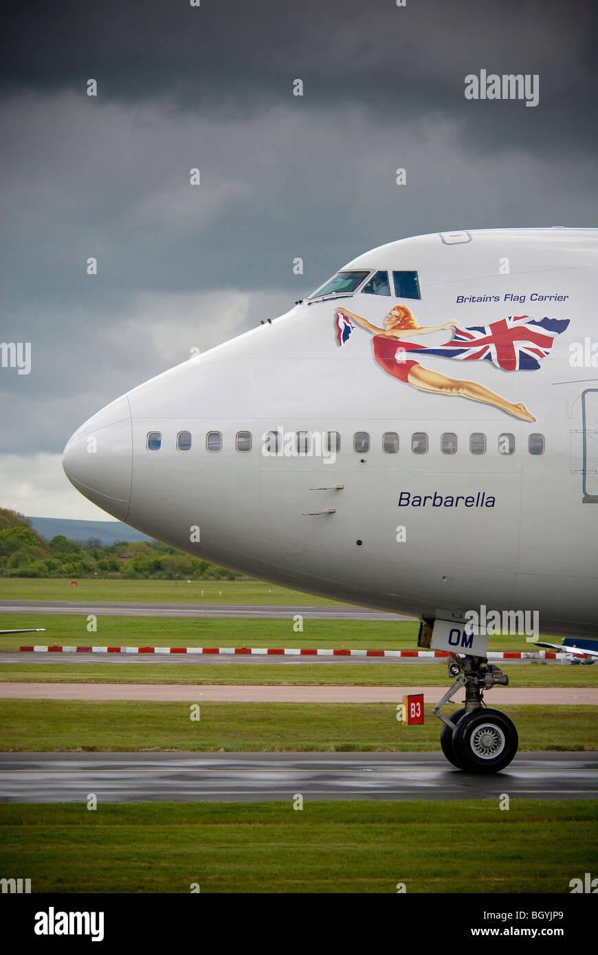 Virgin Atlantic Boeing 747-400 jumbo jet named Barbarella . Stock Photo